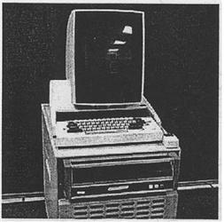 La imagen muestra uno de los primeros tipos de monitores que se usarón.